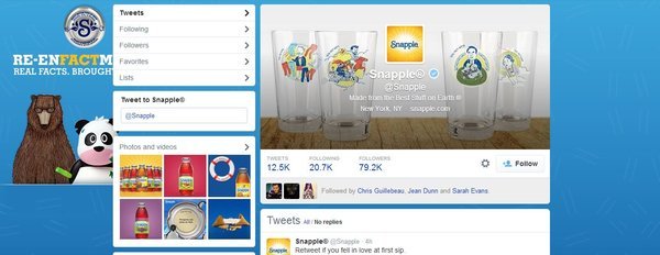 Snapple Twitter Background