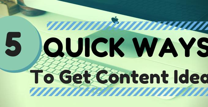 Quick Content Ideas