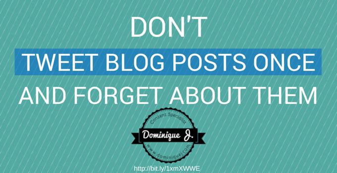 tweeting blog posts one time
