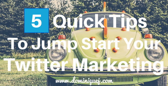 jump start twitter marketing