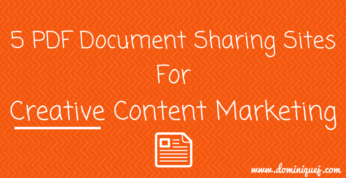 pdf document sharing sites content marketing