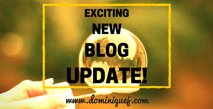 Exciting blog update