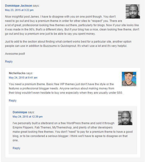 Thoughtful blog commenting