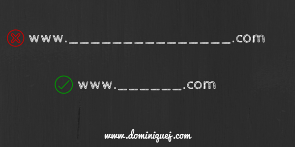 how to choose domain name - short