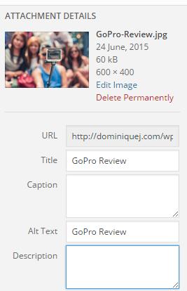 Add WordPress Image Alt Tag and Image title