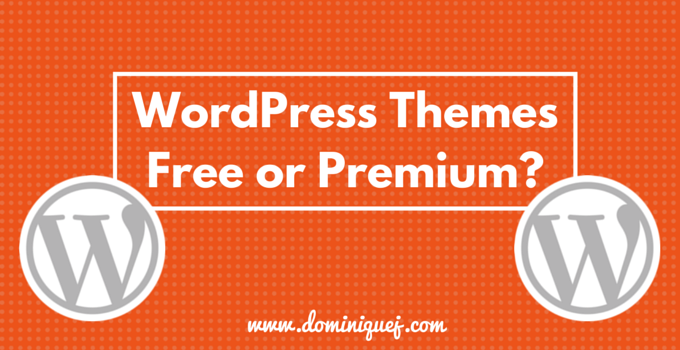 Free WordPress themes vs premium themes