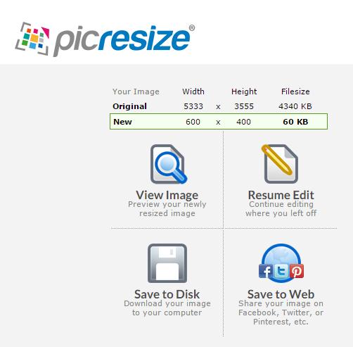Picresize resized image