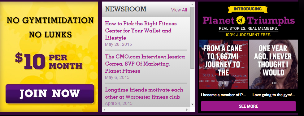 Planet Fitness Case Study - Home Page