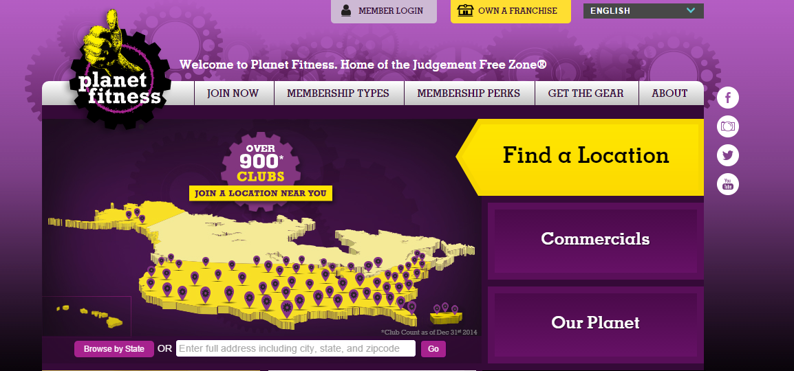 Planet Fitness Home Page