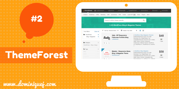 ThemeForest WordPress Themes for bloggers