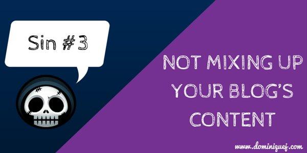 blogging sin 3 - content types