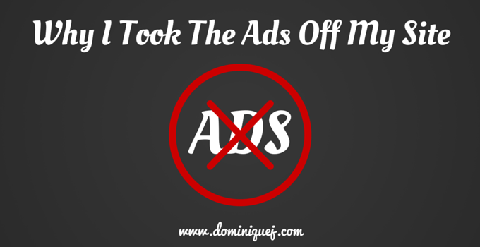removed banner ads from blog