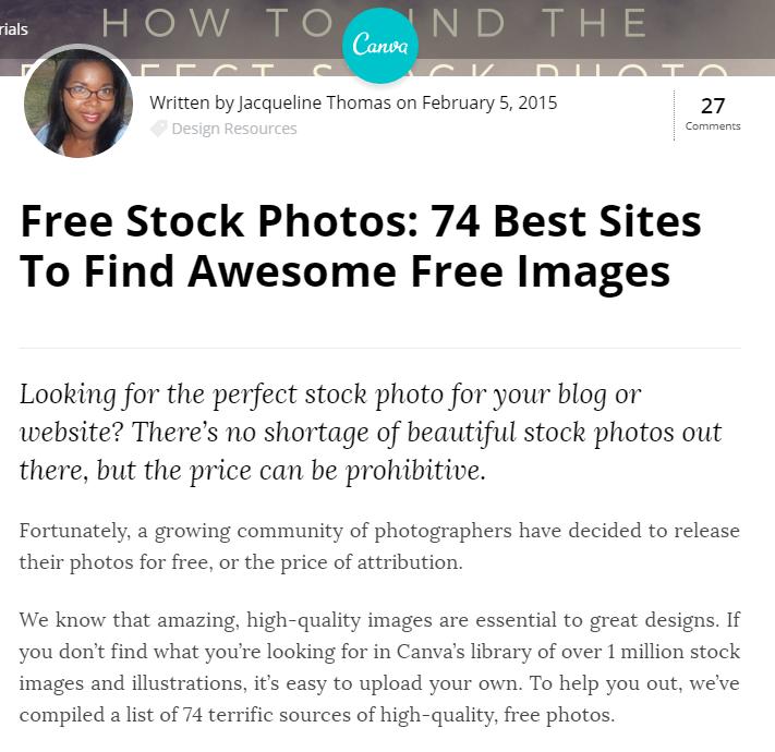 Canva Stock Photo Resource