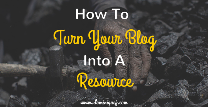 Turn blog Into Resource