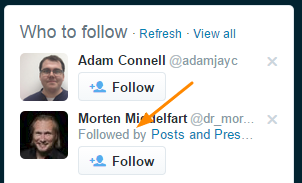 Twitter Follow Suggestions