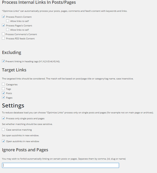 WP Optimize by xtraffic plugin settings