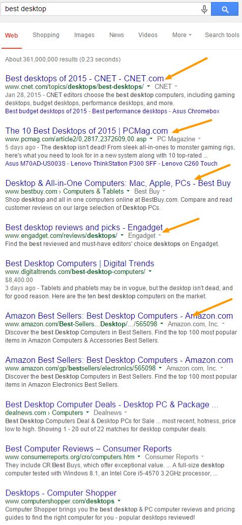 best desktop Google Search