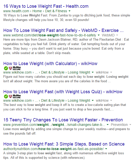 google search results example 2