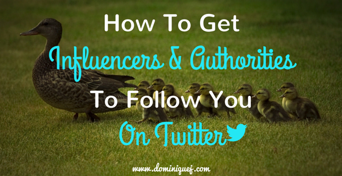 how to get influencers to follow you on twitter