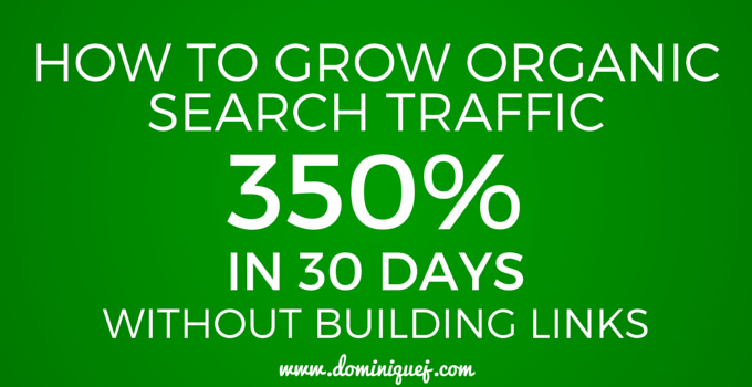 organic search blog traffic