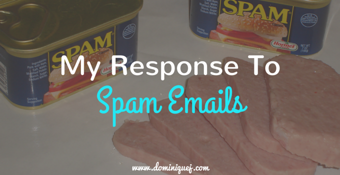 response to spam emails
