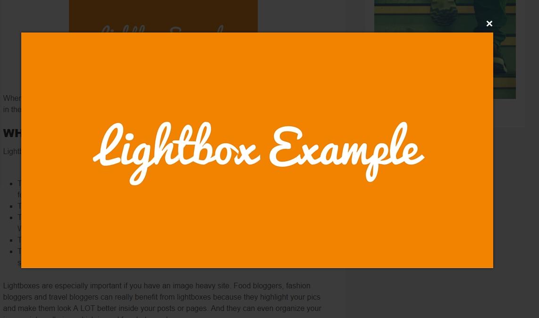 WordPress Lightbox Example