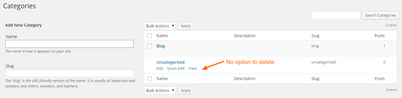 Category Uncategorized.How To Delete Uncategorized From Wordpress