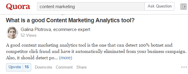 Quora Search Content Marketing