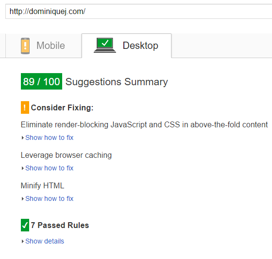 KeyCDN Review - Desktop Page Speed After