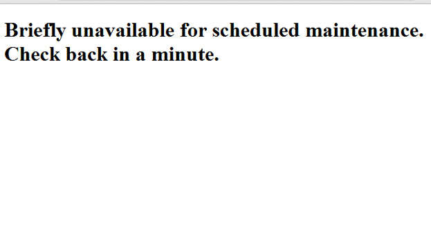 BRIEFLY UNAVAILABLE FOR SCHEDULED MAINTENANCE WordPress Error